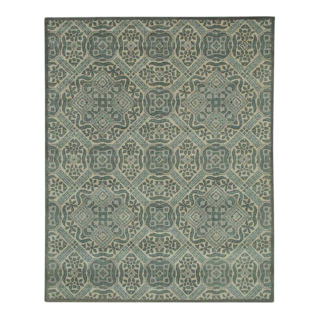 Vintage Ivory Traditional Pattern Rug - 5' x 8' - Image 1 of 5