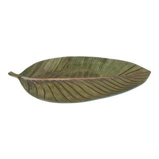 Ceramic Leaf Platter For Sale