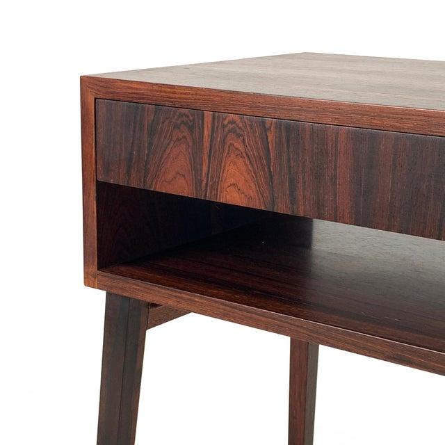 Mid-Century Modern 1960s Vintage Danish Rosewood Bedside Table For Sale - Image 3 of 6