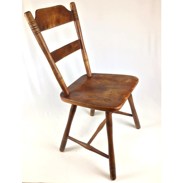 Americana Early 18th Century Antique Myles Standish Line Wood Chair For Sale - Image 3 of 13