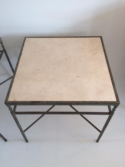 Vintage Metal Side Tables   A Pair   Image 6 Of 11