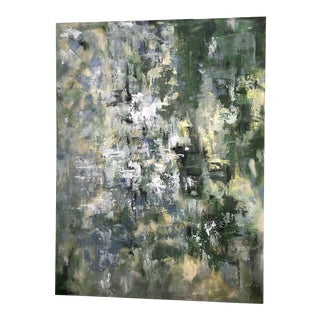 Evergreen Abstract Mixed Media Painting