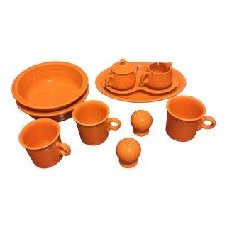 13 Fiestaware Vtg. Post Modern Ceramic Special Pieces - Servers/Mugs/Sugar/Creamer/Salt/Pepper For Sale