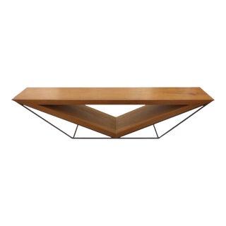 21st Century Brazilian Imbuia Wood Sculptural Bench by Leonardo Bueno For Sale