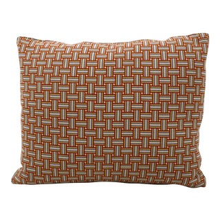 Geometric Basket Weave Pillow For Sale