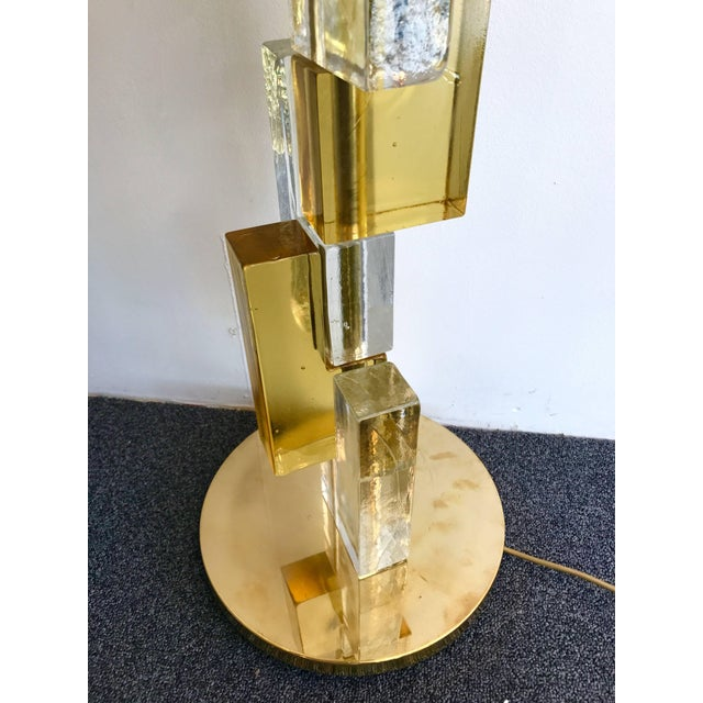 Contemporary Floor Lamps Cubic Murano Glass. Italy For Sale - Image 11 of 13