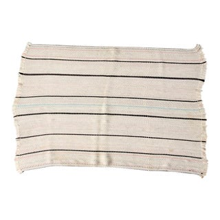 Vintage Striped Throw Rug For Sale