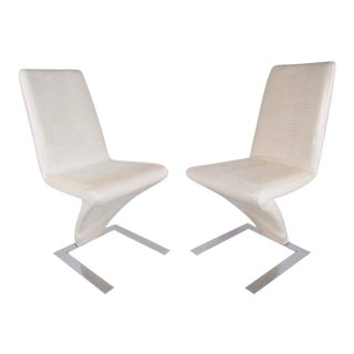 Modern Verner Panton Style Cantilever Chairs - A Pair For Sale