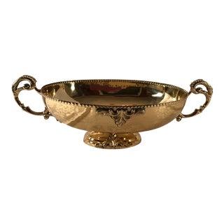 Vintage Ornate Brass Handled Bowl