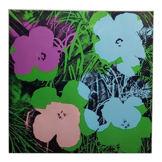 Andy Warhol Flowers -Beautiful Vintage Screenprint by Sunday B. Morning For Sale