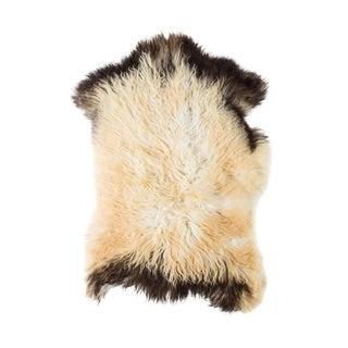 "Contemporary Hand-Tanned Sheepskin Pelt Rug - 2'1""x3'0"" For Sale"