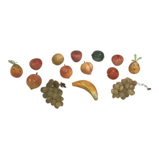 Mid-Century Marble Fruits - Set of 14