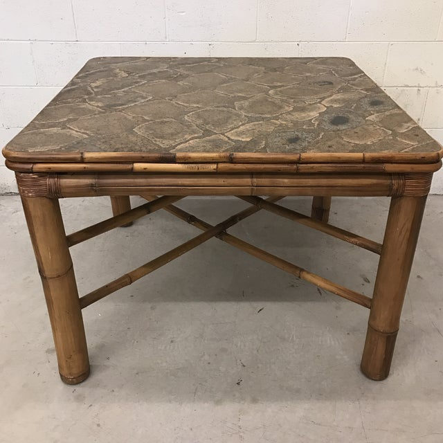 This is such a cool table. The top is a faux organic cork-looking pattern in a nice laminate finish. The pattern is very...