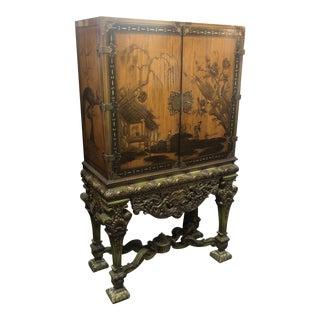 1900 Johnson Handly Liquor Cabinet For Sale