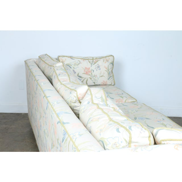 Mid-Century Modern Floral Sofa - Image 9 of 10
