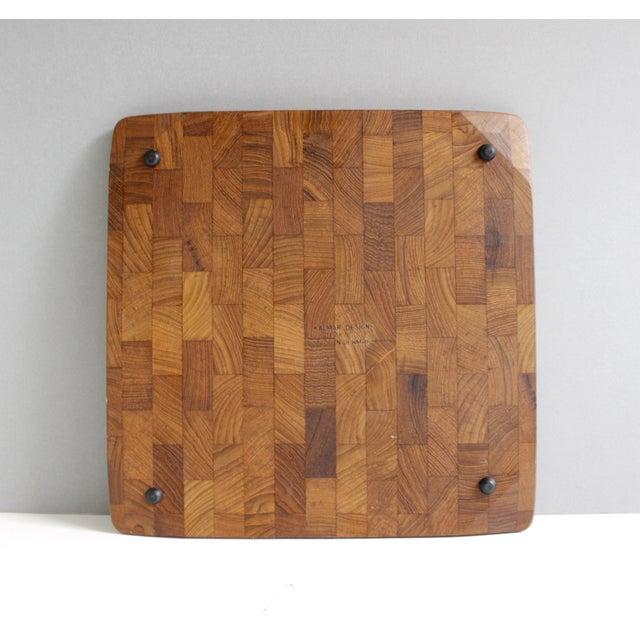 Kalmar Danish Modern Teak Serving Tray Platter - Image 5 of 5