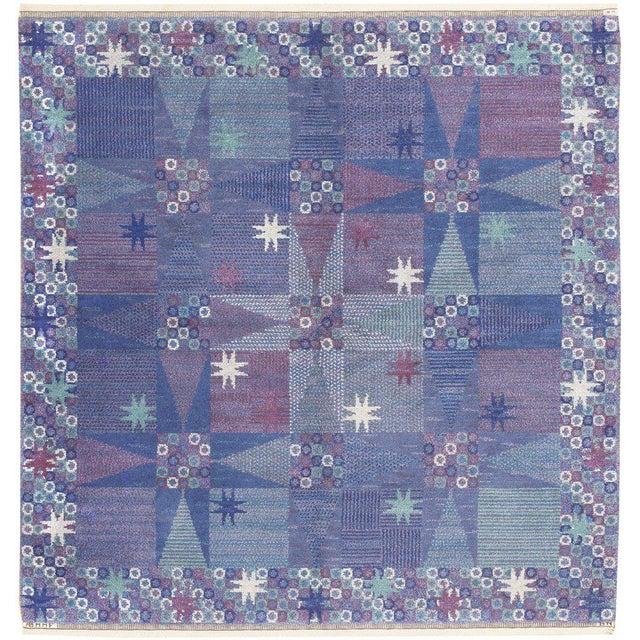 Vintage Scandinavian Carpet by Marta Maas-Fjetterström - 6′ × 6′ For Sale - Image 9 of 9