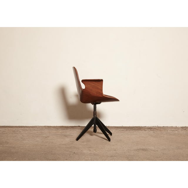 Mid-Century Modern Vittorio Nobili for Fratelli Tagliabue Desk Chair, Italy, 1950s For Sale - Image 3 of 8