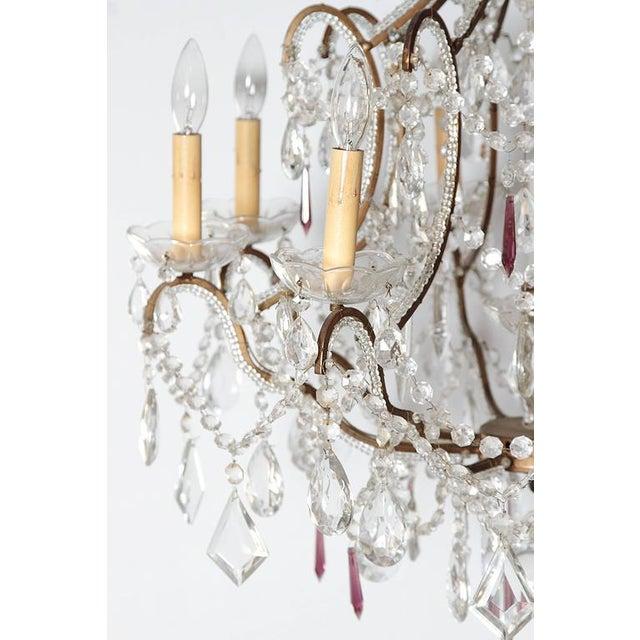19th century italian 8 light crystal chandelier chairish 19th century italian 8 light crystal chandelier image 8 of 10 aloadofball Choice Image