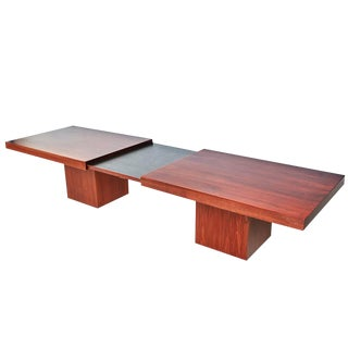 1960s John Keal Walnut Extendable Coffee Table for Brown Saltman For Sale