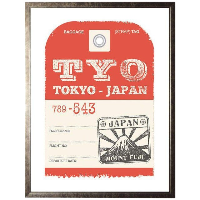 """Tokyo Travel Ticket - 23.5"""" X 29.5"""" For Sale"""