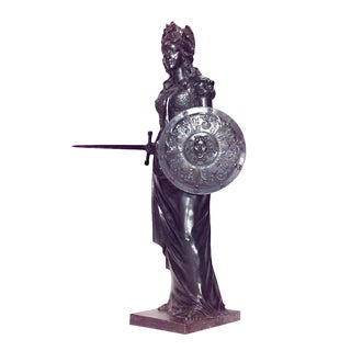 Grecian Style Bronze Lifesize Figure of Classic Woman '19th Century' For Sale