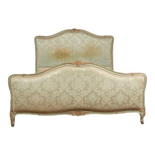 1930s French Louis XV Style Painted Full Size Bedframe For Sale