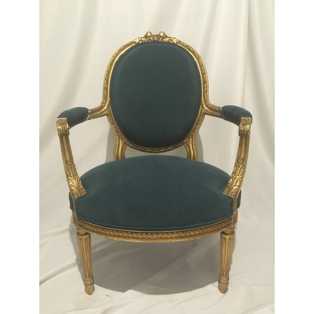 19th C. French Gilt Chairs - a Pair For Sale - Image 11 of 13