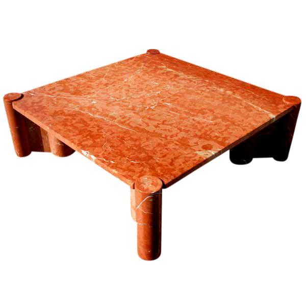 1965 Vintage Knoll Gae Aulenti Jumbo Marble Coffee Table For Sale