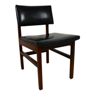 1960s Vintage Studio Crafted Walnut Cubist Style Chair For Sale