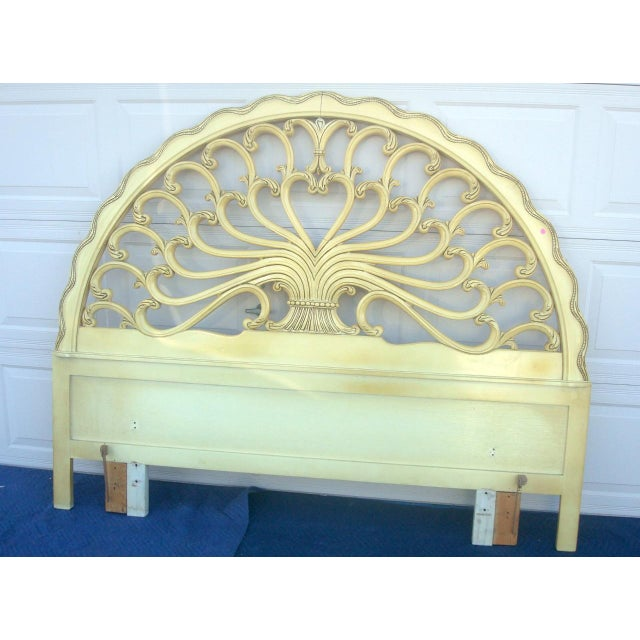 Absolutely gorgeous, stunning, French Provincial headboard in very good condition with normal ware by Genova co, Circa...