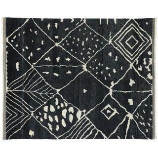 Contemporary Moroccan Inspired Area Rug - 8′5″ × 10′2″ For Sale