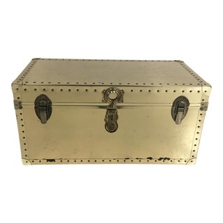 20th Century Campaign Brass Clad Trunk Chest For Sale