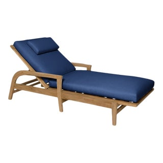 Giati Rinato Chaise Lounge in Pacific Blue For Sale