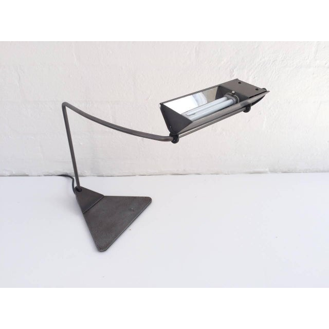 Ron Rezek Raw Steel Desk Lamp For Sale In Palm Springs - Image 6 of 10