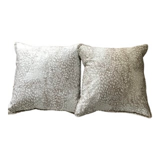 Rebecca Atwood Speckled Taupe/Fawn Pillows For Sale