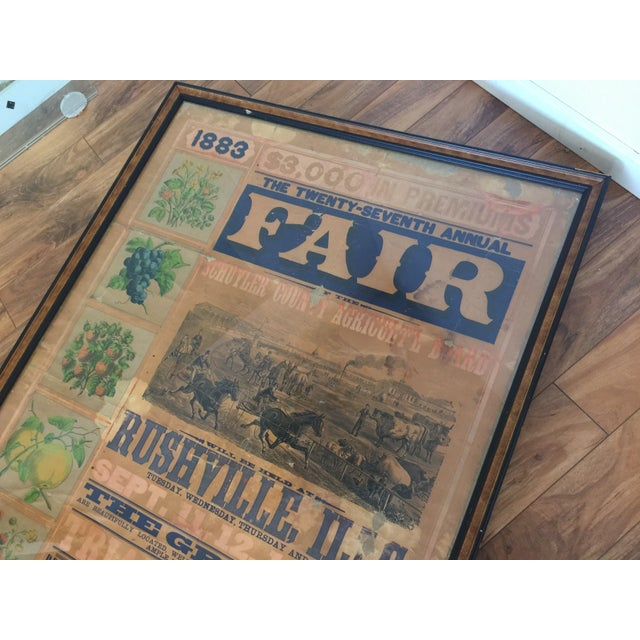 Morgan Printing Co. 1883 County Fair Poster - Image 5 of 11