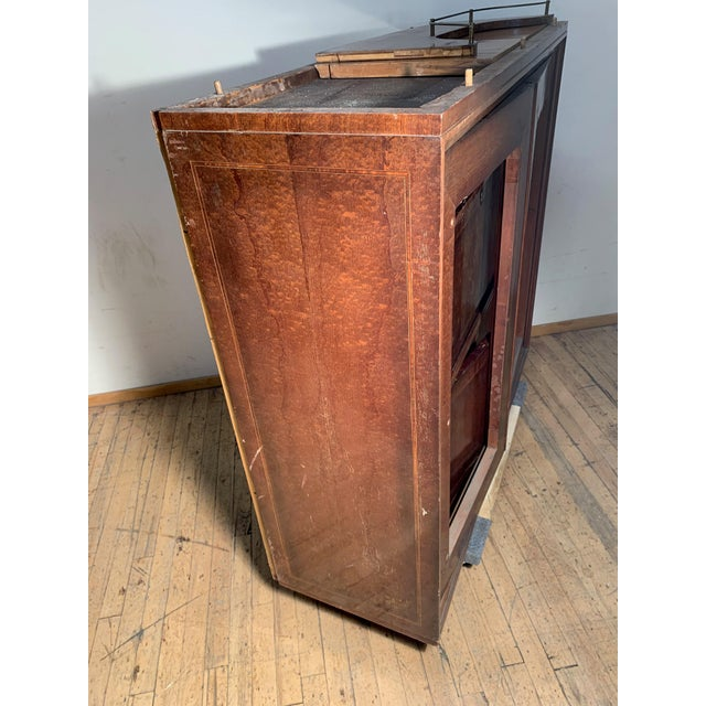 Brown Illuminated Eugenio Diez Sideboard Cabinet For Sale - Image 8 of 13