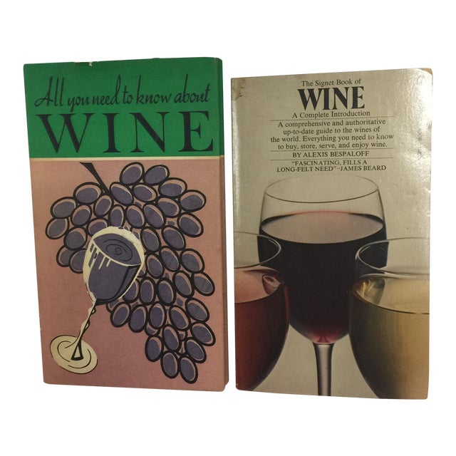 Vintage Wine Themed Books - A Pair For Sale