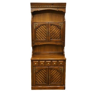 Thomasville Furniture Pine Manor Hutch Top Cabinet For Sale