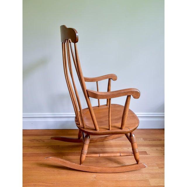 Nichols & Stone 1960s Vintage Nichols & Stone Co. Boston Style Rocking Chair For Sale - Image 4 of 8