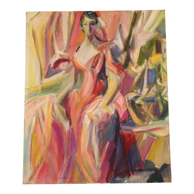 """Woman in Pink Gown"" by Barbara Yeterian For Sale"