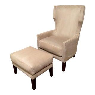 RJones Boca Lounge Chair and Ottoman For Sale