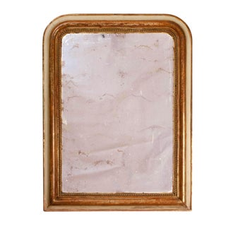1840 French Louis Philippe Gilt Wall Mirror For Sale
