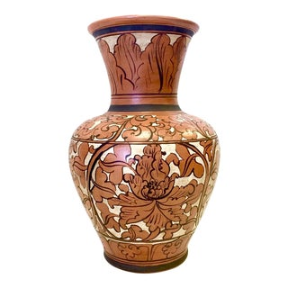 Acoma Style Ink & Slurry Hand Painted Terracotta Pot For Sale
