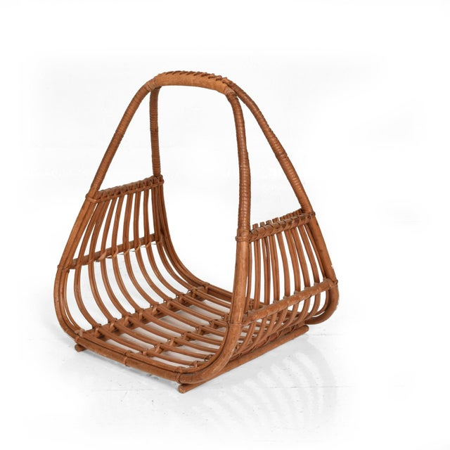 Franco Albini Italian Mid-Century Modern Magazine Rack Holder Basket For Sale - Image 11 of 11
