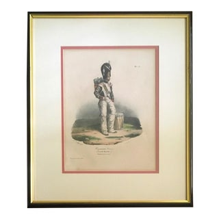 "19th C. Military Lithograph After Hippolyte Belange: ""Regiments Suisses (Garde Royale.)"" For Sale"