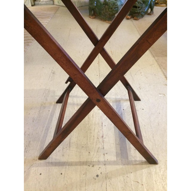 English Traditional Mahogany Butler's Tray Table For Sale - Image 4 of 11