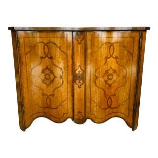 David Michael Transitional Italian Wood Inlay Cabinet For Sale