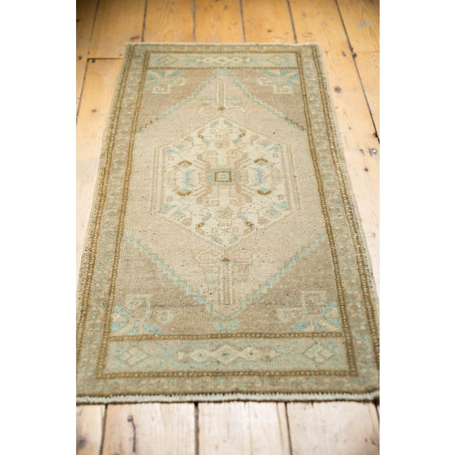 "Vintage Distressed Oushak Rug Mat Runner - 1'9"" X3'6"" For Sale In New York - Image 6 of 7"